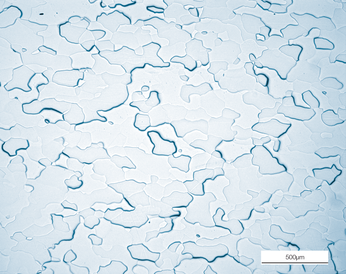 Microestructura de un cátodo cromo