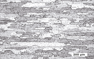 Lichtmikroskopische Aufnahme eines MLR-Bleches