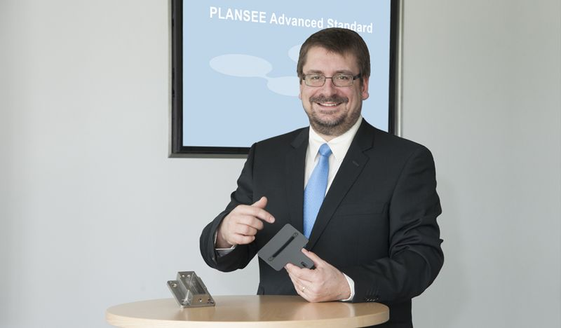 Thomas Werninghaus presenting the Plansee Advanced Standard web