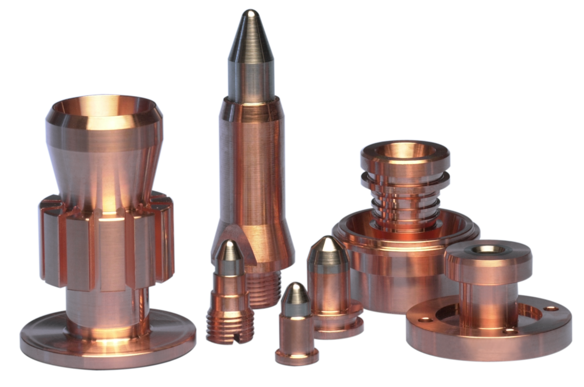 Plasma spray electrodes and nozzles