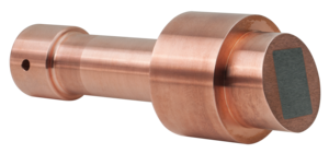 Stationary anode made of copper-tungsten