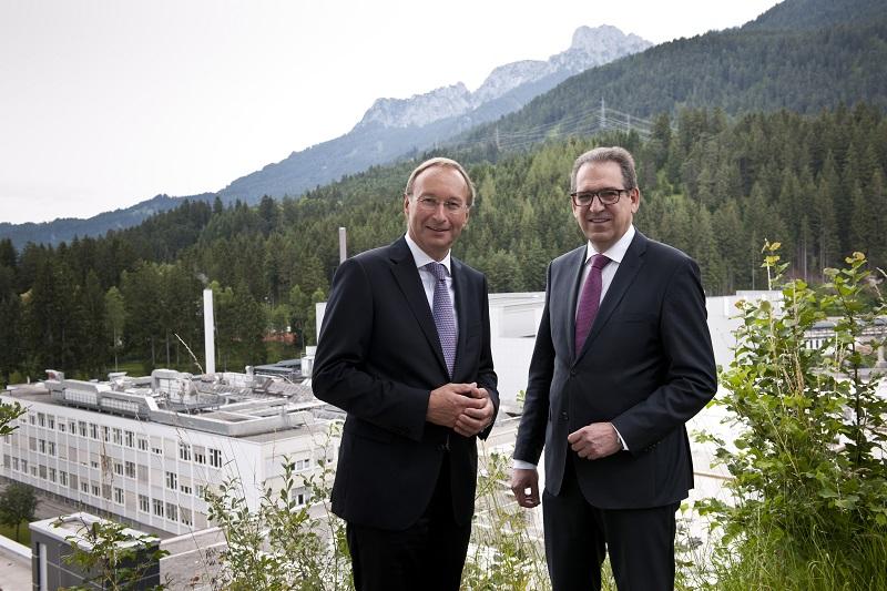 Plansee Group Vorstände Bernhard Schretter (links) und Karlheinz Wex